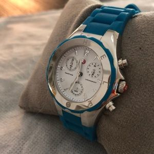 Michele authentic silicone blue watch